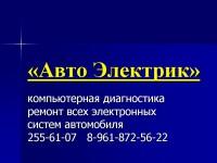 "Логотип ""Авто Электрик"", СТО"